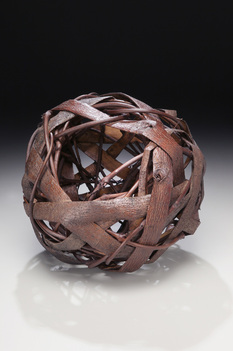 Woven Basket Ball As Example Of Rustic Sculptures