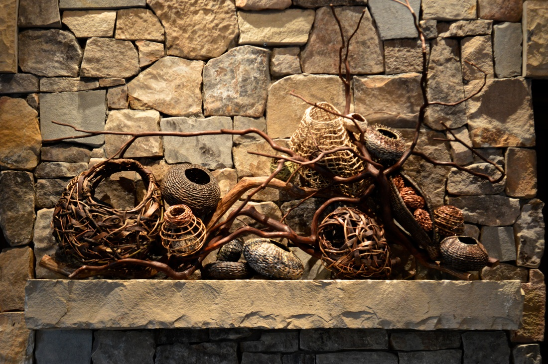 Basketry In Art : Fireplace mantel ideas for your home matt tommey