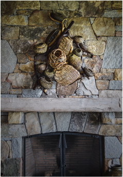 Baskets That Go On Cool Fireplace Mantels