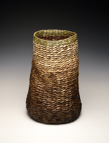 Kudzu and Siberian Iris woven basket. These North Carolinian basket is made by Matt Tommey in Asheville, North Carolina's River Arts District.